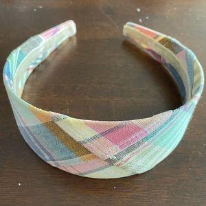 J. Crew madras headband